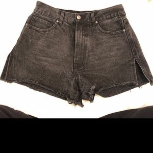 Forever 21 high waisted black jean shorts!